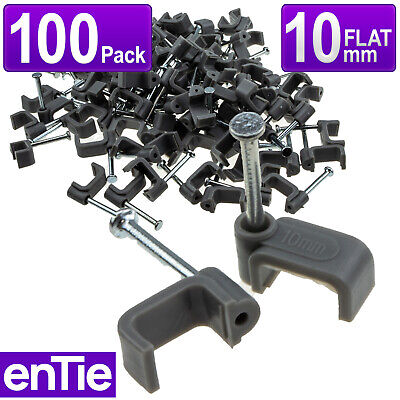Grey 100 x Secure Cable Clips for 2.5mm Twin & Earth Cables 10mm
