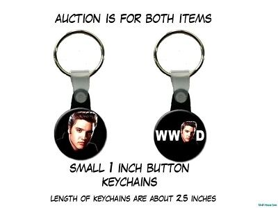 What Would Elvis Presley Do King of Rock n Roll  set of 2 Key Chains