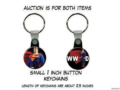 What Would Superman Do Man of Steel Krypton Clark Kent set of 2 Key Chains