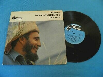 """Cuba The Revolutionary Songs By Maurice Bitter VERY RARE 10"""" LP"""
