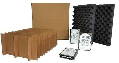 Hard Disk Drive Shipping Box - 20 Count Slotted Storage Container (14 PACK)