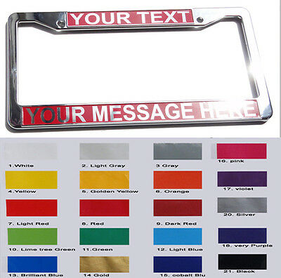 CUSTOM PERSONALIZED LICENSE PLATE FRAME chrome color plastic cover - B type gift