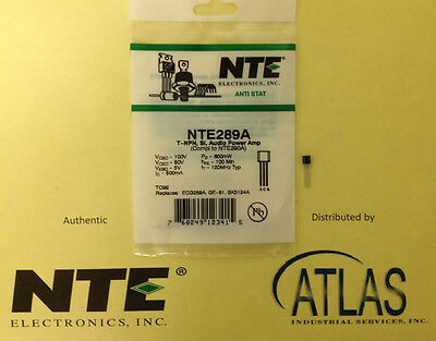 Nte Nte289A Transistor Npn Silicon 100V Ic-0.5A To-92 Case Audio Amp