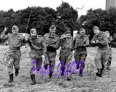 "DADS ARMY Charge Cast Signed Autographed 10x8""  PP RePro Photo arthur"
