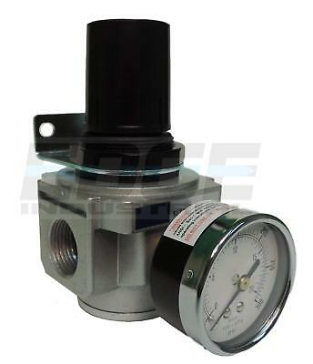 "Industrial Grade Heavy Duty In Line Compressed Air Pressure Regulator, 3/4"" Npt"