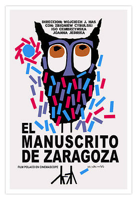 "Spanish movie Poster/""LECHUZA.Owl.Buho/""Rainbow colors.Colorful Art.Home Decor"