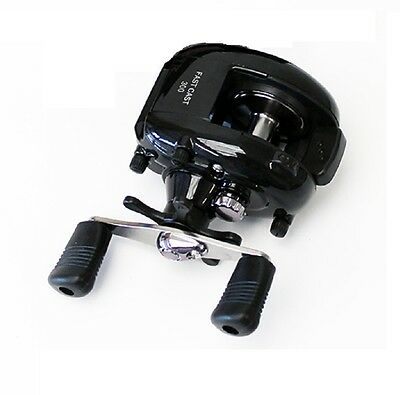 Black  Baitcaster Multiplier Spinning Reel