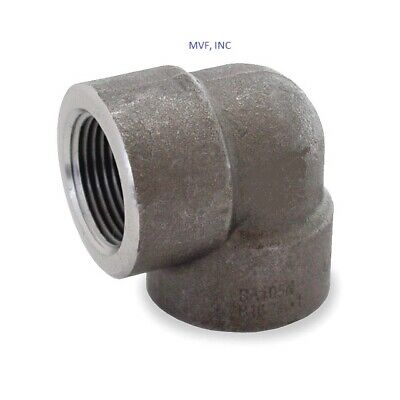 "Forged Steel 1-1/4"" 3000# Threaded 90 Degree Elbow A105 Pipe Fitting   <Fs1007"