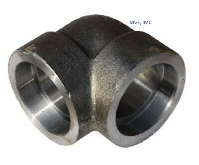"Forged Steel 1/2"" 3000# Socket Weld 90 Degree Elbow A105 Pipe Fitting    <Fs2004"