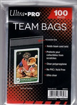 Ultra Pro Resealable Team Bag 100 count package
