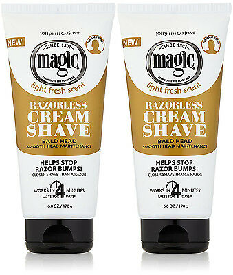 X 2 Magic Hair Bald Head Shaving Cream *Smooth - Strength* SPECIAL OFFER Save£££