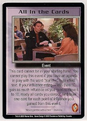 Babylon 5 CCG Crusade RARE All In the Cards NM