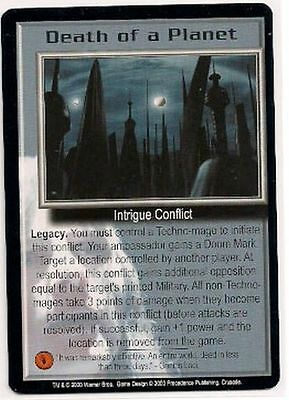Babylon 5 CCG Crusade RARE Death of a Planet NM