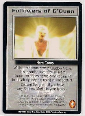 Babylon 5 CCG Shadows RARE Followers of G'Quan NM
