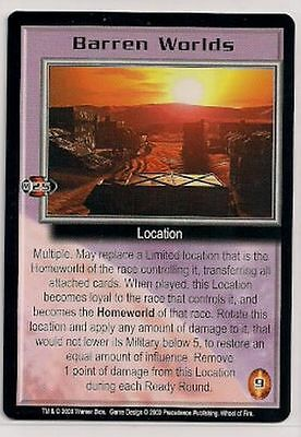 Babylon 5 CCG Wheel of Fire RARE Barren Worlds NM