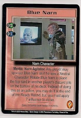 Babylon 5 CCG Wheel of Fire RARE Blue Narn EX