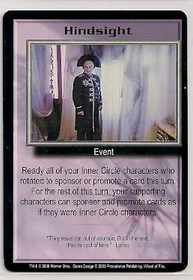 Babylon 5 CCG Wheel of Fire RARE Hindsight NM