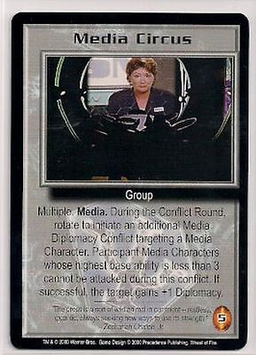 Babylon 5 CCG Wheel of Fire RARE Media Circus NM