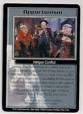 Babylon 5 CCG Wheel of Fire RARE Opportunism NM