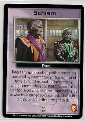 Babylon 5 CCG Wheel of Fire RARE Schism NM