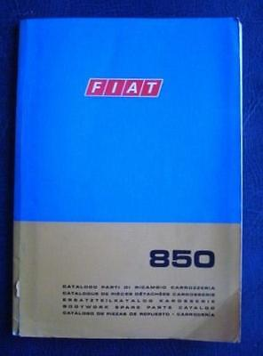 FIAT 850 BODYWORK SPARE PARTS CATALOGUE JUNE 1968 3rd EDITION ref603.10.167