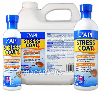 API Stress Coat Water Conditioner Dechlorinator Treatment Freshwater Aquarium