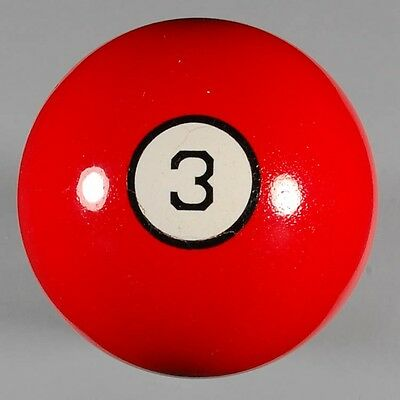 """Antique/Vintage Rare 2-1/8"""" ca1900 Three Ball with Small Rings & Numbers  (e-23)"""