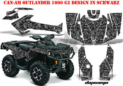Amr Racing Dekor Kit Atv Can-Am Outlander Std & Xmr/max Graphic Kit Digi Camo B