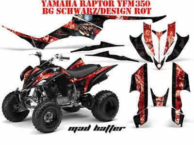 Amr Racing Dekor Graphic Kit Atv Yamaha Raptor 125/250/350/660/700 Mad Hatter B