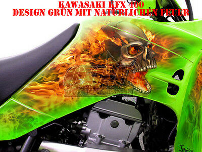 Invision Dekor Graphic Kit Atv Kawasaki Kfx 400 Decals  Nitro B