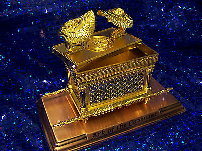 Jewish Gold Plated Ark of the Covenant Testimony on Copper base - Medium Size