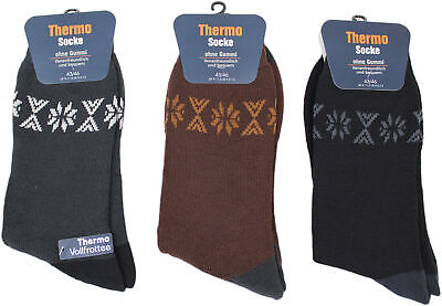 9 Paar  Herren Thermo Socken farbig Design Super Warm Gr. 43/46 WSV - WSV