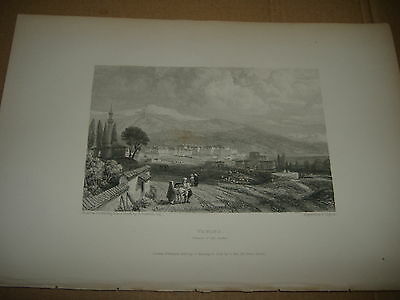 1833 Beautiful Engraving Ancient Albanian Palace Of Ali Pacha Actually Greece