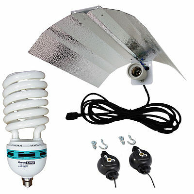 CFL Wing Reflector + 45w 2700k Lamp Hydroponics Light grow tent E27 not E40/HPS