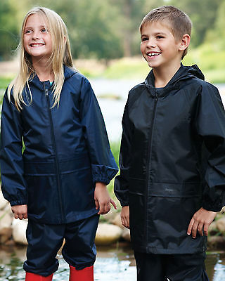 Regatta Kids Children Stormbreak Jacket & Trouser Waterproof Suit