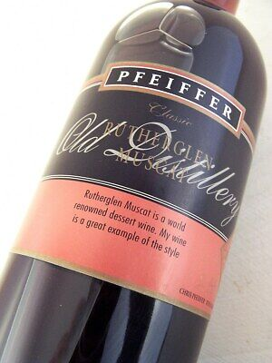 1991 circa NV PFEIFFER Old Distillery Rutherglen Muscat 500ml Isle of Wine