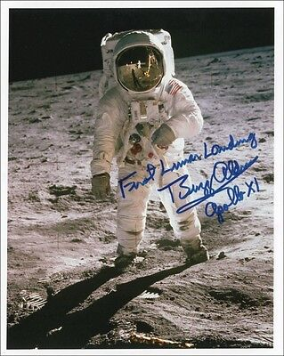 3 Astronaut Buzz Aldrin Signed Photo Apollo CREW Lunar Landing Autograph Prints