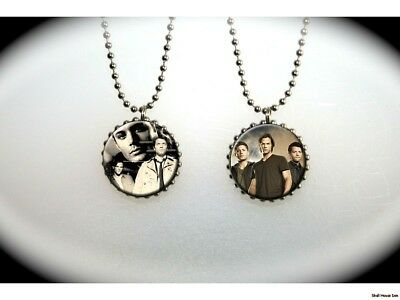 Supernatural all three Sam and Dean Winchester Castiel  -  2 sided necklace