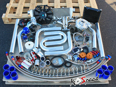For Toyota 4A-Ge Levin 4Age Ae86 Ae92 T04 T3 Turbo Charger Complete Fmic Diy Kit