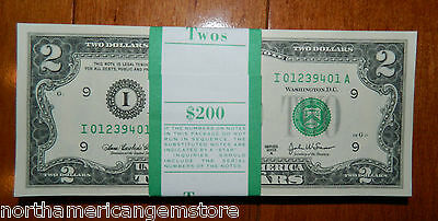 "****Extremely Rare 2003A $2 ""i"" BEP PACK  FV$200 CONSECUTIVE ****"