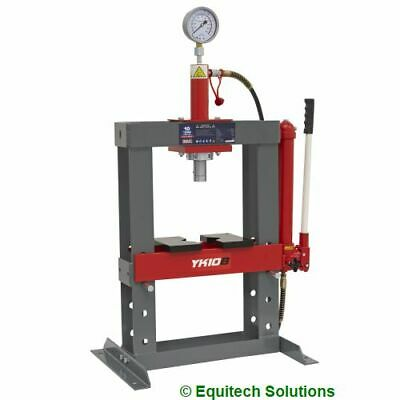 Sealey Tools YK10B 10 Ton 10T Hydraulic Bench Press with Gauge & Pressing Plates