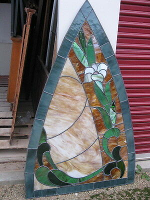 Gothic Stained/Carmel Glass leaded window