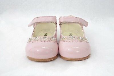Girls Pink Patent Shoes Christening Wedding Party Flowergirl Toddler Size 4