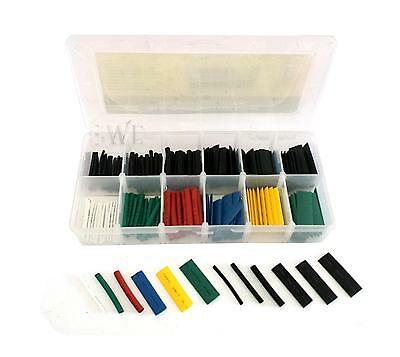 180pc Electrical Wire Cable Cover Insulated Heat Shrink Sleeves Water Resistant