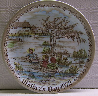 1972 Mother's Day Plate Old English Staffordshire Ware Limited First Edition