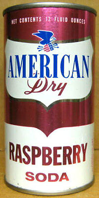 AMERICAN DRY RASPBERRY SODA Flat Top Can, NEW HAMPSHIRE, Grade 1