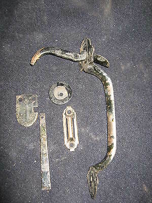 Antique Door Thumblatch Handle Black  #90-12