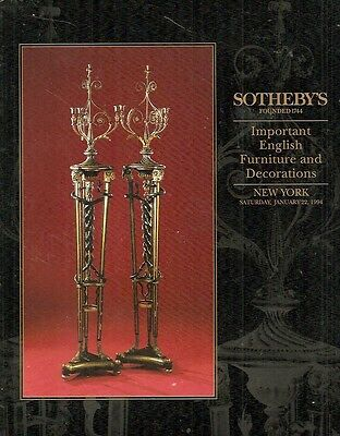 Sotheby's Sale 6525 Imp. English Furniture & Decorations 1994
