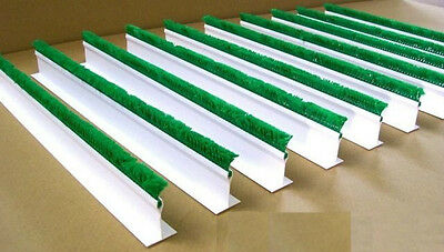 "QTY (10) 2""H x 30""L WHITE CASE DISPLAY DIVIDERS w/ 1"" GREEN PARSLEY"