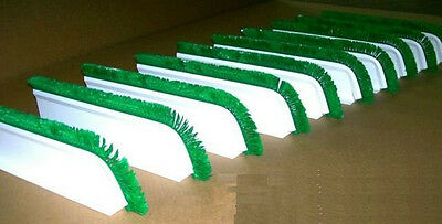 "QTY (10) 3""H x 18""L WHITE CASE DISPLAY DIVIDERS w/ 1"" GREEN CURVED PARSLEY"